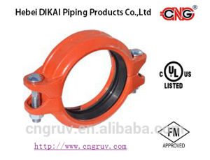 FM UL Approved Epoxy Coated Ductile Iron Grooved Pipe Fittings of Flexible Coupling pictures & photos