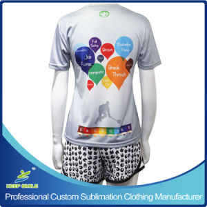 Custom Sublimated Girl′s Sports Garment for Lacrosse Game pictures & photos