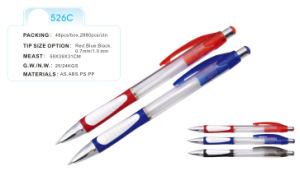 Plastic Ball Point Pens (526C) Promotional Pen 2014 New with Comfortable Grip pictures & photos