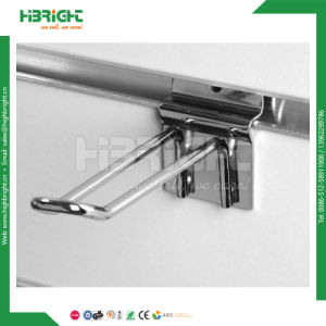 Wholesale Shop Fitting Zinc Palting Slatwall Display Hook pictures & photos