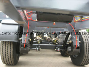 40 Feet 3axles Flatbed Semi Trailer/Single Tyre pictures & photos