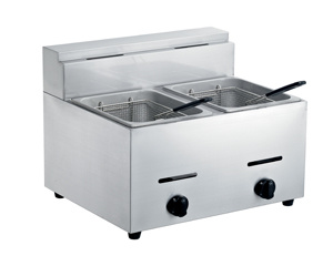 Two Tank Stainless Steel Gas Deep Fryer pictures & photos