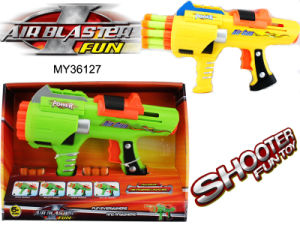 10 Volleying EVA Bullet Toy Gun, EVA Soft Bullet Gun, Shoot Game, Outdoor Toys (MY36127)