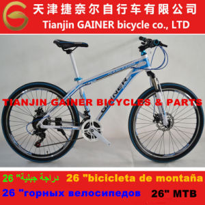 "Tianjin Gainer 26"" MTB Bicycle Aluminum 21sp pictures & photos"