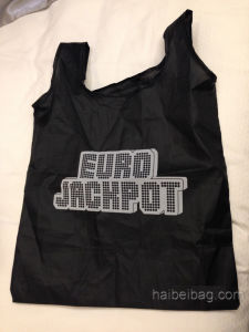 190t Polyester Folding Bag with a Inside Sewn Pouch (HBFB-38) pictures & photos