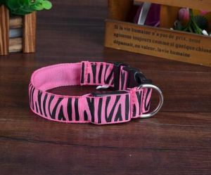 fashion Zebra Stripe Pet Dog Cat Collars