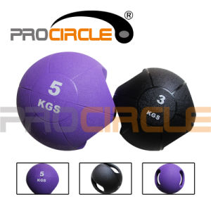 Double Handle Dual Grip Rubber Medicine Ball with Handle (PC-MB1020-1027) pictures & photos