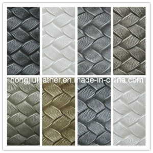 Rattan Plaited Articles Pattern of PVC Leather (Hongjiu-318#) pictures & photos
