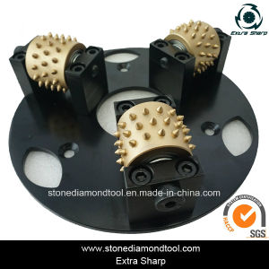 270mm 3 Rollers Litch Surface Stone Grinding Bush Hammer Plate pictures & photos