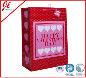 Silver Sparkling Love Wedding Gift Bags with Hang Tag pictures & photos