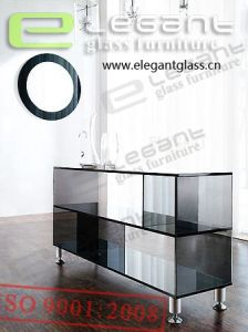 Glass End Table - Shelf-Glass Cabinet -S066 pictures & photos