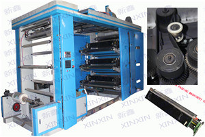 Fully Auto Tensions Controls 6 Color Flexographic Printing Machine Good Condition pictures & photos