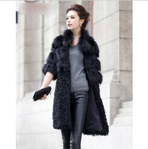 China Ladies Fashion Genuine Real Fox Fur Coat Jacket & Lamb Fur ...
