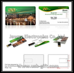 2GB Business Name Card Size USB Flash Memory Drive