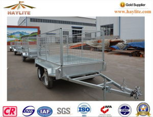 8*5 Trailer with Doubel Axle Cage Hot DIP Galvanized pictures & photos