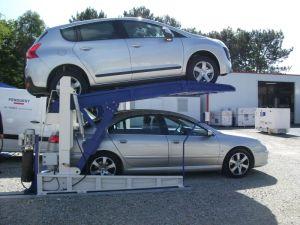 Dual-Cylinder Tilting Car Parking Lift pictures & photos