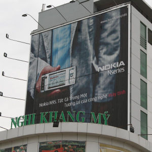 Shopping Mall Vertical Roof Top Trivision Billboard Structure pictures & photos