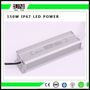 150W Constant Voltage IP65 IP67 12V/24V Waterproof LED Power Supply pictures & photos