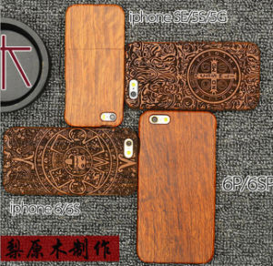 Real Wood High-End Custom Wooden Phone Case for iPhone 6/6s Mobile Case pictures & photos