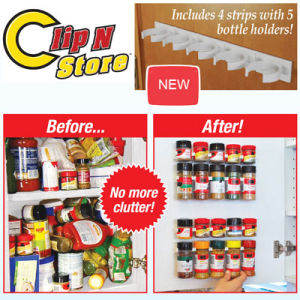 Clip N Store, Kitchen Spice Organizer Holder, Spice Rack pictures & photos