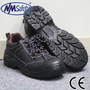 Nmsafety Cheap CE Approved Leather Work Boots Safety Shoes pictures & photos