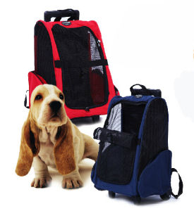 Pet Trolley Wheel Carrier Trolley Rolling Wheel Pet Backpack Carrier pictures & photos