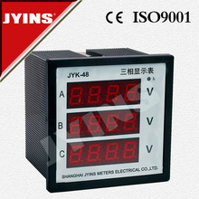LED Digital Three Phase Digital Voltmeter (JYK-48-3V) pictures & photos
