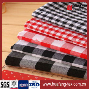 Top Quality 100% Cotton Grid Fabric pictures & photos