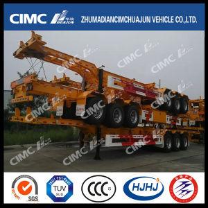 Cimc Huajun 40FT 3axle Gooseneck Container Trailer pictures & photos