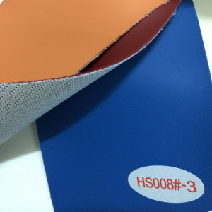 Faux Leather Upholstery Fabric (HS008#) pictures & photos