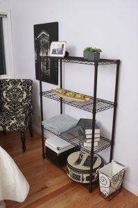 Modern Bedroom Furniture Metal Wire Shelfs (CJ7545180A4E) pictures & photos
