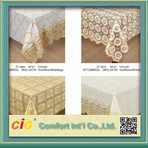 54′′ PVC Table Cloth PVC Table Lace in Roll pictures & photos