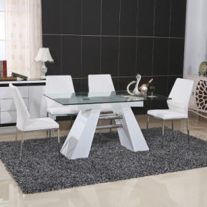 Stainless Steel MDF Dining Table with PU Chair (ET37 & EC51-1) pictures & photos