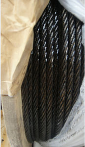 Galvanized Steel Wire Rope 6X7+FC Coated Black Oil Outside pictures & photos