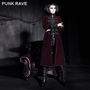 Punk Rave Gothic Women Winter Long Red Winter Coat (Y-401/RD) pictures & photos