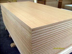 Melamine Particle Board /Walnut Laminated Chipboard pictures & photos