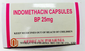 Indomethacin 25 Mg Capsule Finished Medicine, Rheumatoid Arthritis Treatment Pain Killer Medicine pictures & photos