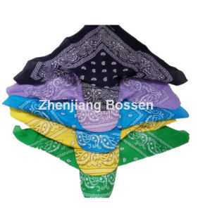 Customized Logo Printed Paisley Cotton UV Protection Bandana Cap pictures & photos