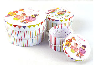 Sweetness Printing Round Box Set with Handle pictures & photos