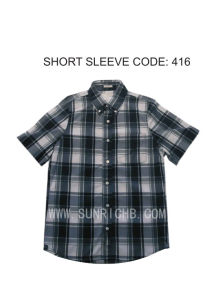Short Sleeve Plaid Shirt (416) pictures & photos