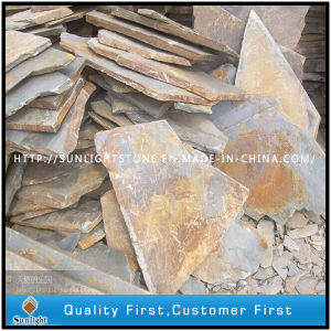 Natural Irregular Flagstone Rusty Slate for Outside Garden Floor Decoration pictures & photos