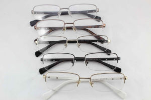 Famous Brand Eyeglasses Frame From Italy Acetate and Stainless Materials Anti-UV 400%