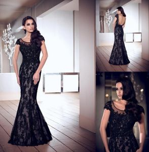 New Party Dress Black Lace Mother Formal Gown Evening Dress E13175 pictures & photos