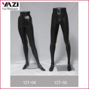 Matt Black Half Size Male Mannequin Leg for Pants pictures & photos