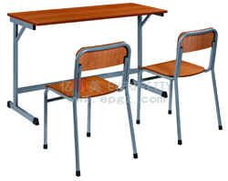 Double Desk and Chair Student Table Chair College Desk Chair of School Classroom Furniture pictures & photos