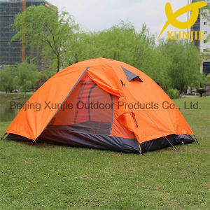 Xunjie Brand Orange Double Layer Tent for Sun Shelter