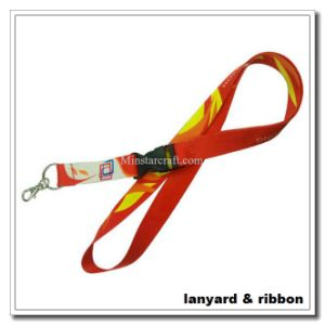 15mm Wide 4-Color Processed Polyester Lanyard