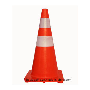 "28"" Fluorescent Orange Road Safety Soft PVC Cone Pjtc103"