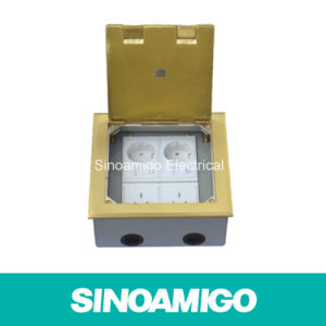 Floor Socket Box out Put Connector Drop Box Floor Pocket Ground Supply Socket (SCF-180BC) pictures & photos