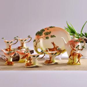 16PCS Deer Porcelain Ornament Coffee Set AS-16001 Outlet (AS-16001)